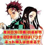鬼滅の刃(漫画)の最新刊・20巻の発売日はいつ?ネット購入は出来る?
