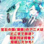 宝石の国(漫画)のアニメはどこまで放送?最新刊は何巻?完結したかも!