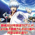 銀魂2020年放送TVアニメ!よりぬき銀魂さんポロリ篇の内容は前と違う?