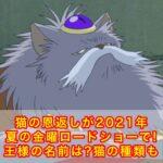 猫の恩返しが2021年夏の金曜ロードショーで!王様の名前は?猫の種類も